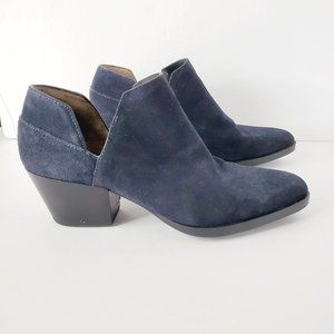 3.1 Phillip Lim Navy Suede Ankle Booties